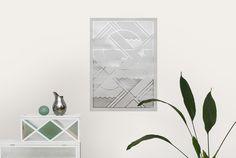 Levels Print by Danish Graphic Designer Kristina Krogh. Silver. Foil. Metallic. Art. Wall Art. Print. Poster. Geometric. Home, Homewares, Interiors, Home Decor.