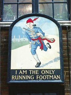 I Am the Only Running Footman (20 Weirdest British Pub Names)