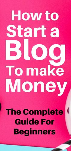 Starting a blog to make money is possibly one of the best ways to make money online. I've been able to consistently earn money from my blog. If you want to learn how to start a blog for money, click this image to find and follow the beginners guide