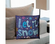 Let it snow, διακοσμητικό μαξιλάρι,9,90 €,http://www.stickit.gr/index.php?id_product=17469&controller=product