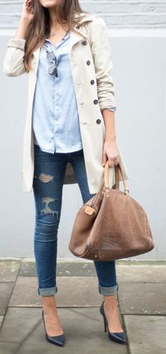Minus the ripped jeans and shoes I could never walk in-let alone chase kids in!
