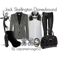 Jack Skellington Disneybound by capamericagirl21 on Polyvore
