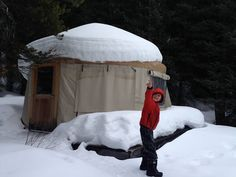 Yurt-Camping in Kananaskis at Mount Engadine Lodge / Family Adventures in the Canadian Rockies Yurt Camping, Camping Meals, Camping Hacks, Cold Weather Camping, Winter Camping, Hiking With Kids, Sleeping Under The Stars, Canadian Rockies, Family Adventure