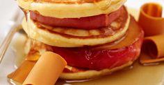 Pancakes au sirop d'érable et au brunost Brunch, Breakfast, Food, Ricardo Recipe, Recipes, Meal, Eten, Meals, Morning Breakfast