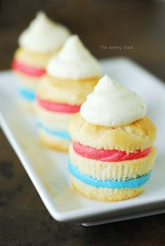 Patriotic Independence Day Cupcakes