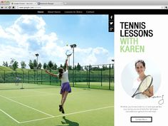 Tennis Lessons | Website Template