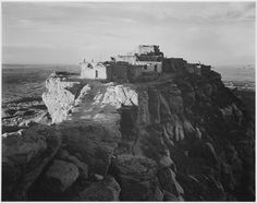 """Full view of the city on top of mountain, """"Walpi, Arizona, 1941 wem"""