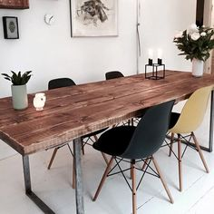 The Best Wood Dining Table Design That Today Trend 26 Cleaning Wood Furniture, Mango Wood Furniture, Dining Furniture, Home Furniture, Diy Esstisch, Esstisch Design, Diy Dining Table, Dining Table Design, Style Vintage