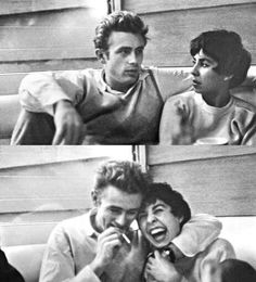 James Dean and a girl known only as Connie in pics taken at Googies, 1954. One of these was published in Gilmore's '97 Dean memoir.