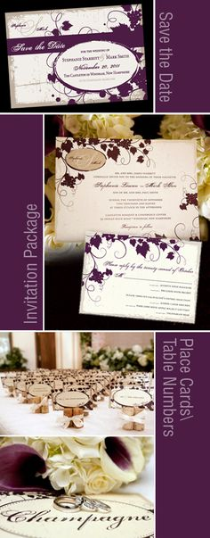 Vintage Wine Theme Wedding Board but add fushia to bring in wedding colors