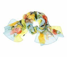Sommerliches Tuch mit Dschungel-Print
