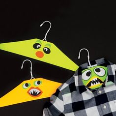Add some fun to the boring hangers with cartoons!