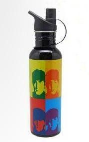 The Beatles - Andy Warhol Design BPA Free Stainless Steel Water Bottle. BPA Free Andy Warhol Water Bottle. 25 oz/750 ml. Stainless Steel. Hand Wash Only. Authentic Licensed Products.