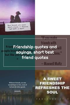 Friendship quotes and sayings, short best friend quotes Short Best Friend Quotes, Short Friendship Quotes, Best Friends, Sayings, Beat Friends, Bestfriends, Lyrics, Word Of Wisdom, Best Friend Quotes