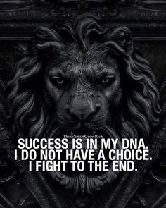 I fight to the end...