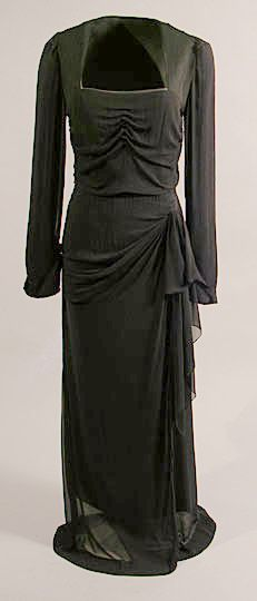 Evening Dress Producer: Edward Molyneux Place Produced: London, England, United Kingdom, Europe Date Produced: 1937 Materials: Silk; Chiffon
