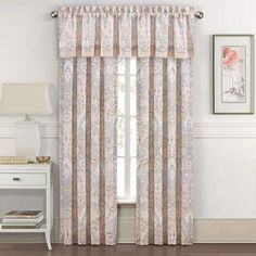 J Queen New York Royal Court Palermo Blue Drapery Bedding Rod Pocket Curtains, Grommet Curtains, Drapes Curtains, Drapery, Floral Room, Royal Court, Window Panels, Curtain Panels, Space Furniture