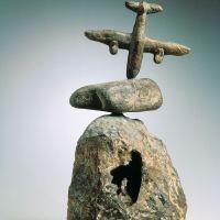85Personnage et oiseau (Personage and Bird) 1966  Bronze (lost wax casting). Fundició Parellada, Barcelona