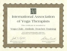 Yoga Alliance Teacher Training Certificate Template Learn about yoga today and improve your life style