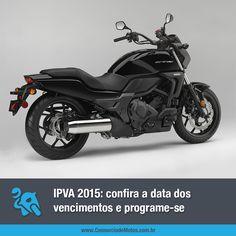 A cada começo de ano todo brasileiro já sabe que o IPVA vai chegar e é importante ficar atento aos prazos de pagamento. Confira o seu através da matéria: https://www.consorciodemotos.com.br/noticias/ipva-de-motos-2015-conheca-a-data-dos-vencimentos?idcampanha=288&utm_source=Pinterest&utm_medium=Perfil&utm_campaign=redessociais