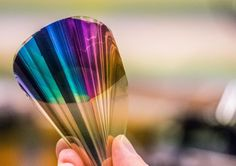 Flexible e-paper display is full color but less than a micrometerthick