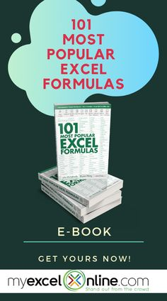MyExcelOnline Excel E-books Excel Cheat Sheet, Microsoft Excel Formulas, Excel Macros, Excel For Beginners, Excel Budget Template, Charts And Graphs, Microsoft Office, Microsoft Windows, Learning