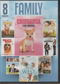 8 Movie Family Pack (DVD, 2012, 2-Disc Set) #EchoBridgeHomeEntertainment