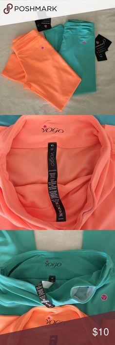 Yoga capri pants NWT bright orange and turquoise capri pants. Has a hidden pocket at waistline. Vogo Pants Leggings