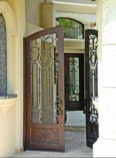 Courtyard Gate Lerida-106 - Wrought Iron Doors, Windows, Gates, & Railings from Cantera Doors