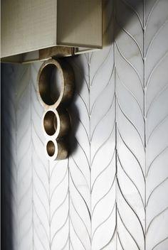 Virginia Tile Company Michigan Design Center Stone Mosaic Tiles Modern Bathroom