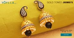 Gold Toned Jhumki's Featuring Red Stone Drop PRODUCT CODE:	460206 #world #earrings #lbastet #ohjoy #bekkapalmer