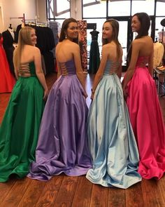 Classic A Line Straplees Long Prom/Evening Dress sold by BeautyLady. Shop more products from BeautyLady on Storenvy, the home of independent small businesses all over the world. Nice Dresses, Short Dresses, Prom Dresses, Formal Dresses, Dress Prom, Prom Queens, All About Fashion, Dress For You, Dress Making