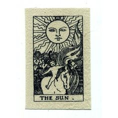 Sun Tarot Card Patch Screen Printed Canvas ❤ liked on Polyvore featuring fillers, backgrounds and stuff