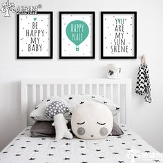 Nordic Decoration Be Happy Posters And Prints Wall Painting Wall Art Canvas Art Print Wall Pictures Poster Frame not include