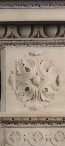 Carved marble fire surround detail