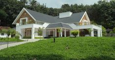 News Updates from Kerala India Bungalow Homes, Bungalow House Design, Cottage Design, Duplex House, Kerala House Design, Unique House Design, House Design Photos, Kerala Traditional House, Traditional House Plans