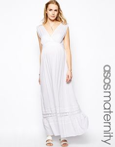 ASOS Maternity Maxi Dress In Cheesecloth
