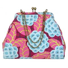 Ultra Feminine! Chic Nora Clutch With Adjustable Chain Straps - Tea Rose Raspberry Ultra Feminine!