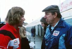 James Hunt et Ken Tyrrell 1976