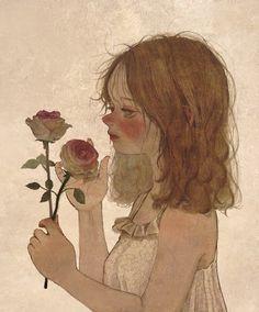 Gravure Illustration, Illustration Art, Illustrations, Pretty Art, Cute Art, Aesthetic Art, Aesthetic Anime, Neji E Tenten, Cartoon Art Styles