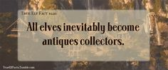 True Elf Facts everything is an antique if you wait long enough side effects of immortality
