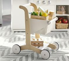 Wooden Shopping Cart #pbkids  a and l would luv this