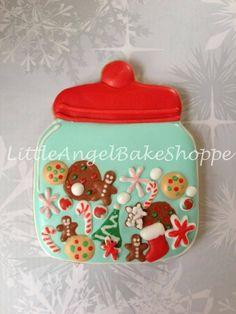 Christmas cookie jar