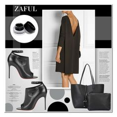 """Zaful_6"" by ruska-10 ❤ liked on Polyvore featuring Bobbi Brown Cosmetics, Christian Louboutin, black, Elegant and zaful"