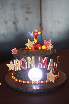 Iron Man Cake   Eli's 3rd B'day Party collection by Kristi Chappell Photography
