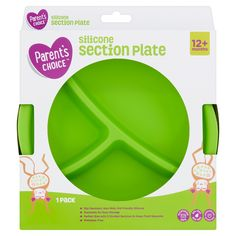 Parent's Choice Silicone Section Plate, 12+ Months, 1 Pack Parents Choice, Different Recipes, 12 Months, Packing, Parenting, Walmart, Plates, Christmas, Blue