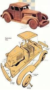 Wooden Deuce Coupe Plan - Children's Wooden Toy Plans and Projects - Woodwork, Woodworking, Woodworking Plans, Woodworking Projects Kids Woodworking Projects, Woodworking Garage, Woodworking Patterns, Woodworking Furniture, Wood Projects, Woodworking Quotes, Intarsia Woodworking, 3d Puzzel, Combi Wv