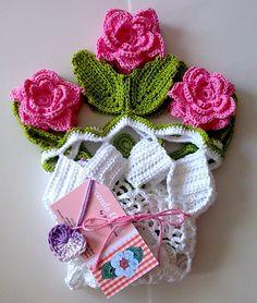 Tecendo+Artes+em+Crochet:+Centro+de+mesa+Primavera+-+Mais+Um!