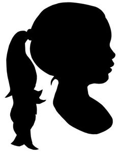Custom Silhouette in black and white or by SparkleMonkeyLLC, $20.00