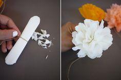 DIY Crepe Paper Pom Pom Garland